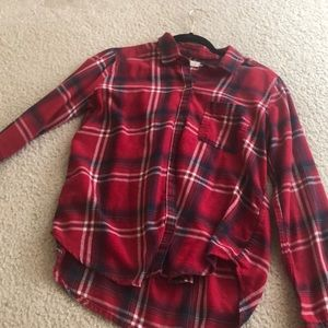 White and red flannel